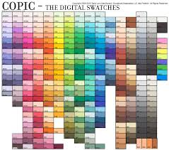 Copic Color Blending Chart Copic Digital Swatches Jpg Free