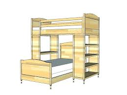 bunk beds with stairs bed plans building for diy loft desk the