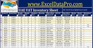 Inventory Management In Excel Download Uae Vat Inventory Management Excel Template