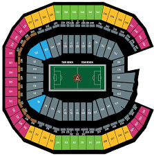 Mercedes Benz Stadium Seating Chart Peach Bowl Seating Chart