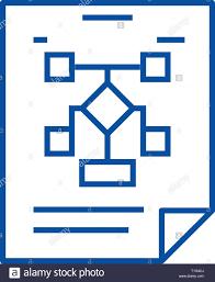 Business Organization Flow Chart Line Icon Concept Business