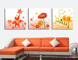 3 piece wall decor panel wall art hot canvas modern abstract acrylic flower painting on