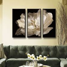 3 piece framed wall art black and white