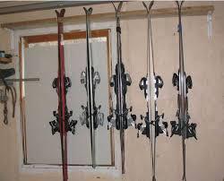 ski rack garage organization ski storage