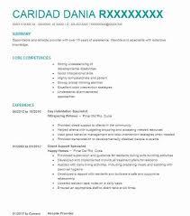 habilitation specialist day habilitation specialist resume sample livecareer