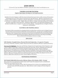 Control Systems Engineer Sample Resume Mesmerizing Software Engineer Resume Sample Best Of 40 Complex Electrical