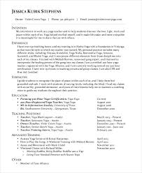 Yoga Teacher Resume Teacher Resume 9 Free Sample Example Format Free Premium