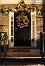how to hang garland around front doorBest 25 Christmas front doors ideas on Pinterest  Front door