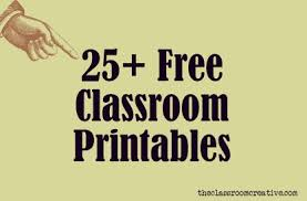 Free Classroom Printables