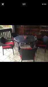 barely used patio table with four chairs for in fountain valley ca offerup