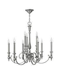 elstead lighting hinkley yorktown 9 light chandelier in antique nickel finish with both antique nickel and