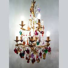 murano chandelier with fruit