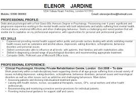 Assistant Psychologist Sample Resume Research Psychologist Resume
