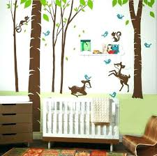 woodland creatures wall decals animal forest trees and animals nursery art