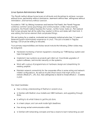 parelli linux system administrator job description by dacourtjester within linux administrator job description linux administrator job description