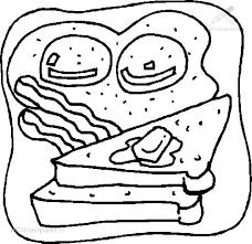 1001 Kleurplaten Eten En Drinken Eten Kleurplaat Toast