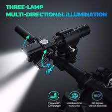 <b>T6 L2LED</b> Aluminum Bicycle Alloy <b>Multifunction</b> Three Lamp Head ...