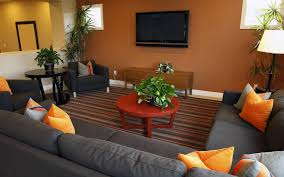 Orange Decorating For Living Room Orange And Brown Living Room Walls Yes Yes Go