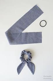 diy scrunchie with hair tie new
