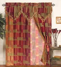 moroccan tapestry curtain set w valance sheer tassels