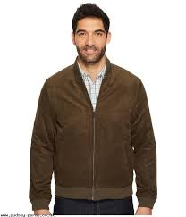 men perry ellis faux suede er jacket major brown latest styles coats and jackets