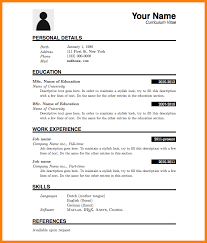 5 C V Format Download Word File Biology Resume