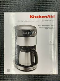 kitchenaid kcm1203cu 12 cup thermal carafe coffee maker contour silver