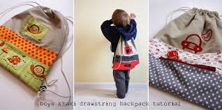 Drawstring Backpack Pattern Stunning Boy's Drawstring Backpack From Khaki Pants Tutorial Noodlehead