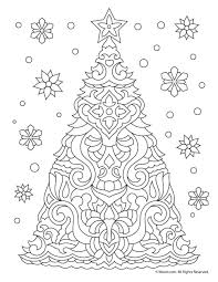 Christmas Tree Adult Coloring Page Christmas Easter Coloring