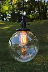 etsy lighting pendants. Glass Globe Sphere Pendant Light Industrial By LightLadyStudio Etsy Lighting Pendants R