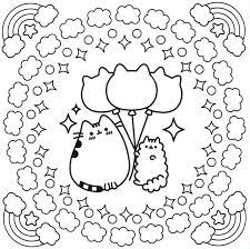 Pusheen Coloring Book Pusheen Pusheen The Cat Color Sheets For