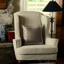 Living Room Chair Covers Light Grey Chair Cover For Wingback Chair For Rustic Living Room
