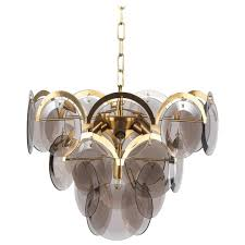 murano disc chandelier by vistosi italy 1970s p a wonderful vintage murano chandelier