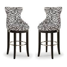 Patterned Bar Stools Impressive Baxton Studio Peace Modern And Contemporary ZebraPrint Patterned