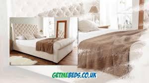 Elegance Fabric Sleigh Bed YouTube