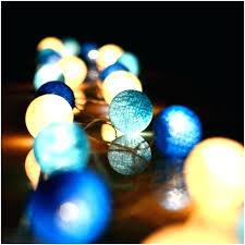 outdoor ball lights string dark blue series cotton led garden fairy lighting for trees bal