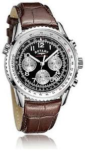 rotary men s watch shop for rotary men s watch at twenga co uk rotary mens brown black chronograph leather strap watch