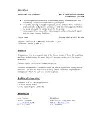 Part Time Cv Example 2