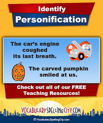 personification vocabularyspellingcity personification