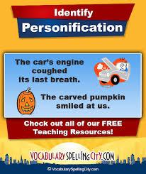 personification vocabularyspellingcity personification
