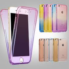 Iphone 6 Plus Cover Designer For Iphone 5 5s Se 6 6s 7 Plus Silicone Protective Clear Case Cover 360 Full Protector Shell Touch Screen Candy Color Thin Slim