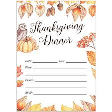 Thanksgiving Invites Amazon Com Thanksgiving Day Dinner Invitations Envelopes