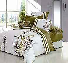 image of duvet cover full green