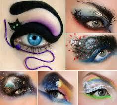 crazy yet attractive eye makeup