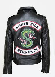 details about riverdale southside serpents jughead jones womens black leather biker jacket new