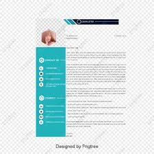Green Resume Template Vector Png Resume Resume Template Png