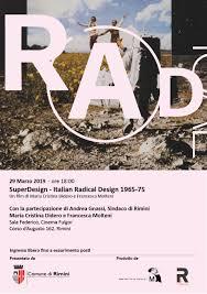 Italian Radical Design Superdesign Italian Radical Design 1965 75