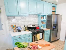 repainting kitchen cabinets blue