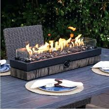 gas fire pits details about outdoor tabletop pit patio table top propane rustic fireplace bowl new