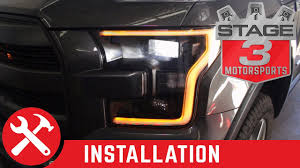 2016 F150 Led Lights 2015 2016 F 150 Raptor Retrofit Oem Halogen To Led Headlights Install